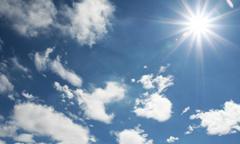晴れの日は発電量が多い